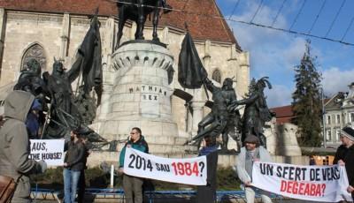 Protest Cluj anti legea Ciberneticii