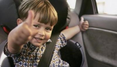 copil în maşină