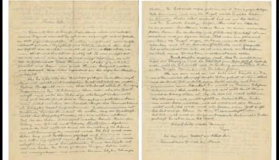 Einstein, scrisori vandute la pretul de 420.000 de dolari