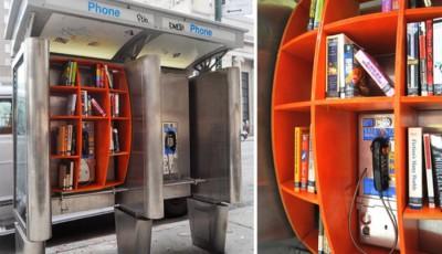 cabina telefonica cu carti