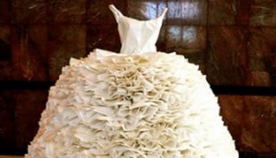 rochie mireasă hârtie