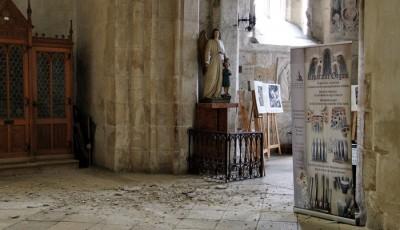 tavan prăbuşit în catedrala Sfantul Mihail