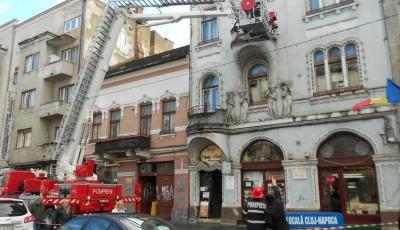 Intervenție ISU pe Bulevardul Eroilor, Cluj Napoca