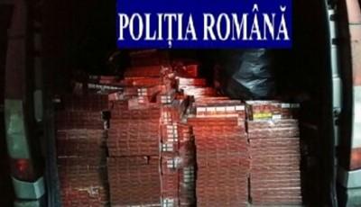 Țigări confiscate de polițiștii bistrițeni