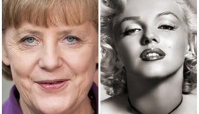 Angela Merkel si Marilyn Monroe