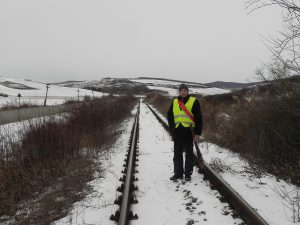 Acesta sunt eu, un revizor de cale ferată!