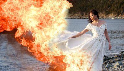 mireasa rochie foc