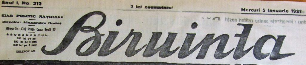ziare vechi cluj
