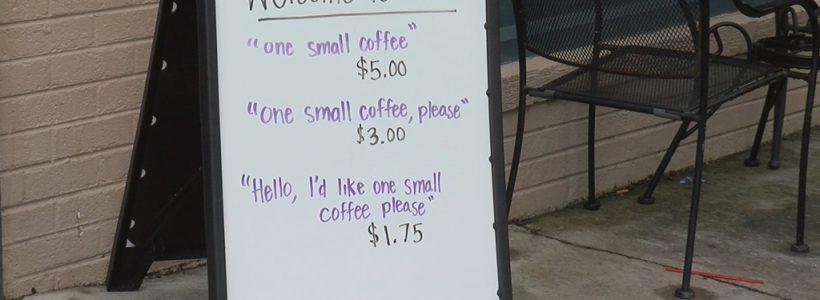 cafenea cu multumesc