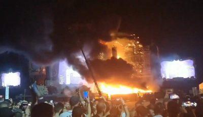 incendiu spania festival