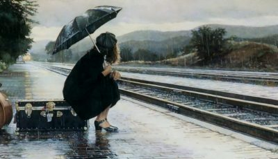 femeie ploaie umbrela