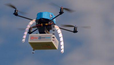 livrare pizza cu drona