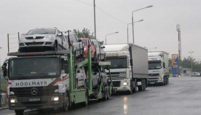 coloana camioane autostrada