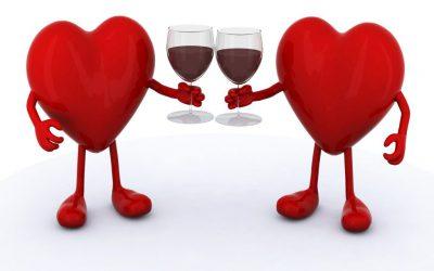 vin rosu inima