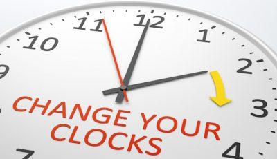 schimbarea orei, ceas